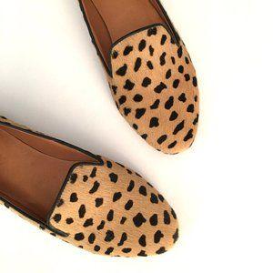 NEW! Madewell Teddy Cheetah Calf Hair Loafers - 9
